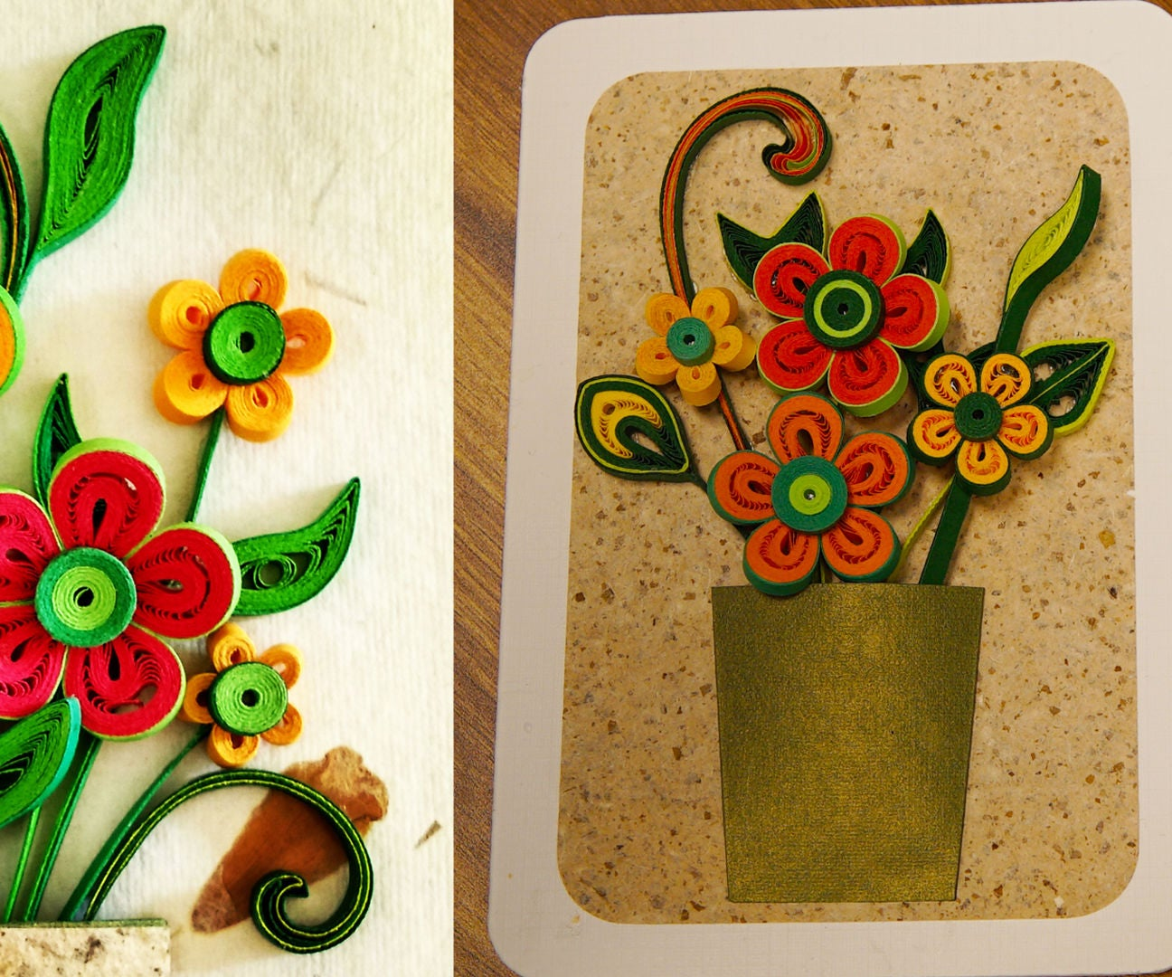 How To Make A 3d Flower Greeting Card Quilling Artwork