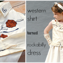 Western Shirt to Rockabilly Dress Refashion
