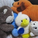 Create a cushion from recycled stuffed animals!