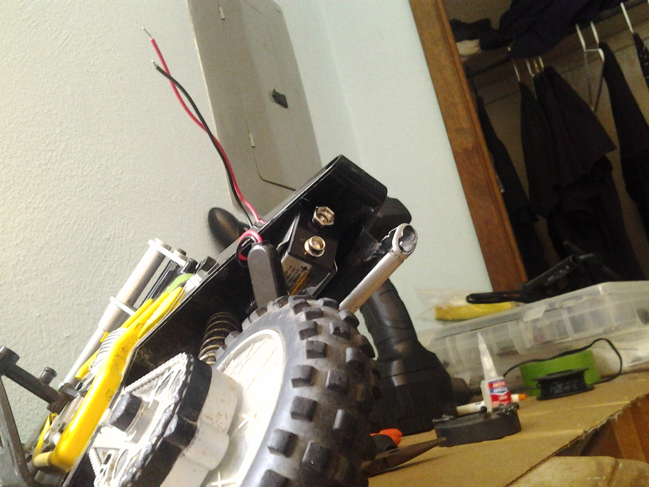Picture of Mounting the 9v Battery