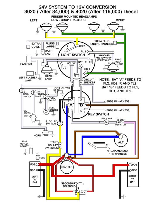 [DIAGRAM_34OR]  John Deere 3020 24v to 12v Conversion : 15 Steps (with Pictures) -  Instructables | John Deere 4020 Diesel Wiring Diagram |  | Instructables