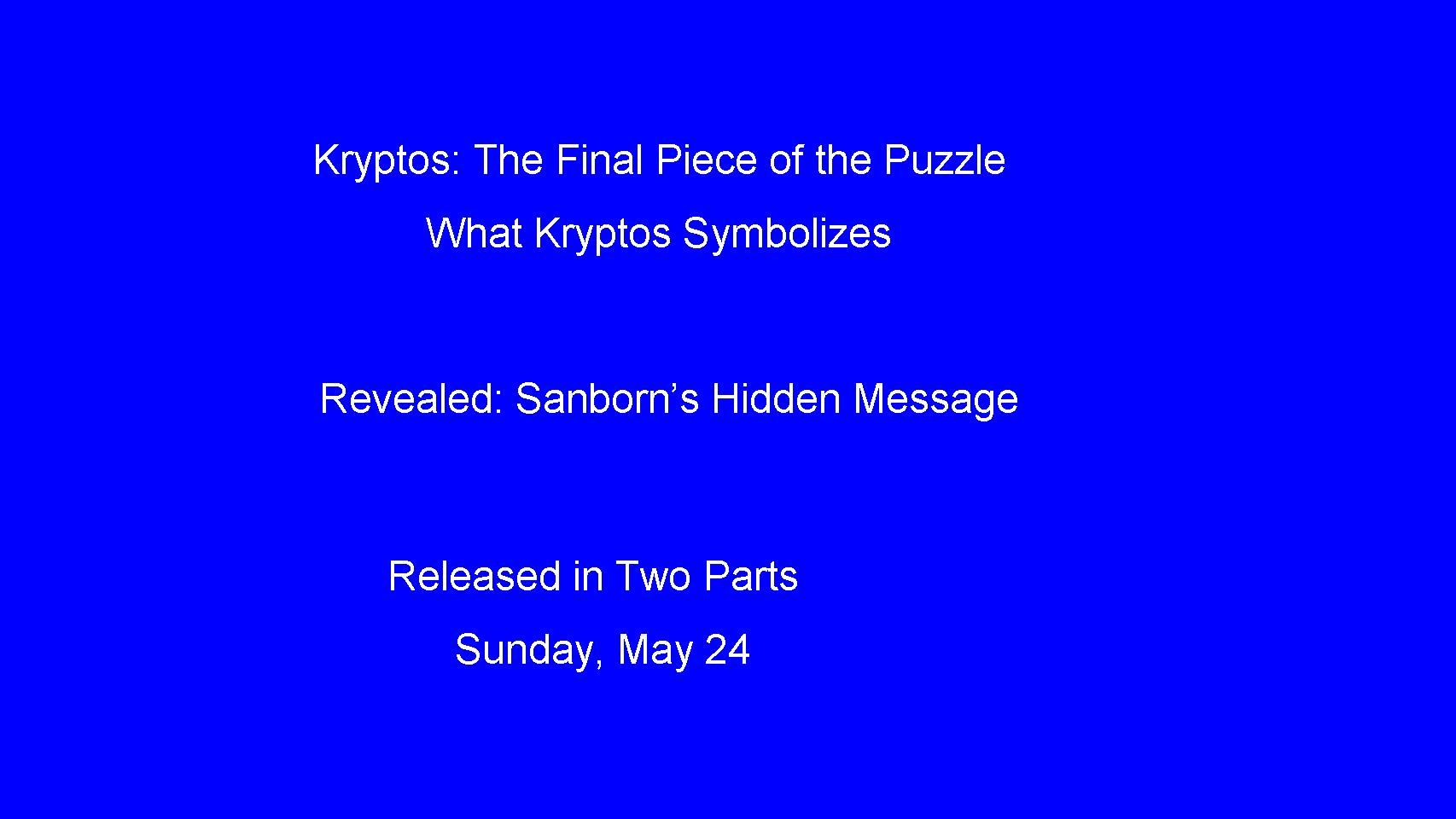 Picture of The Secret of Kryptos