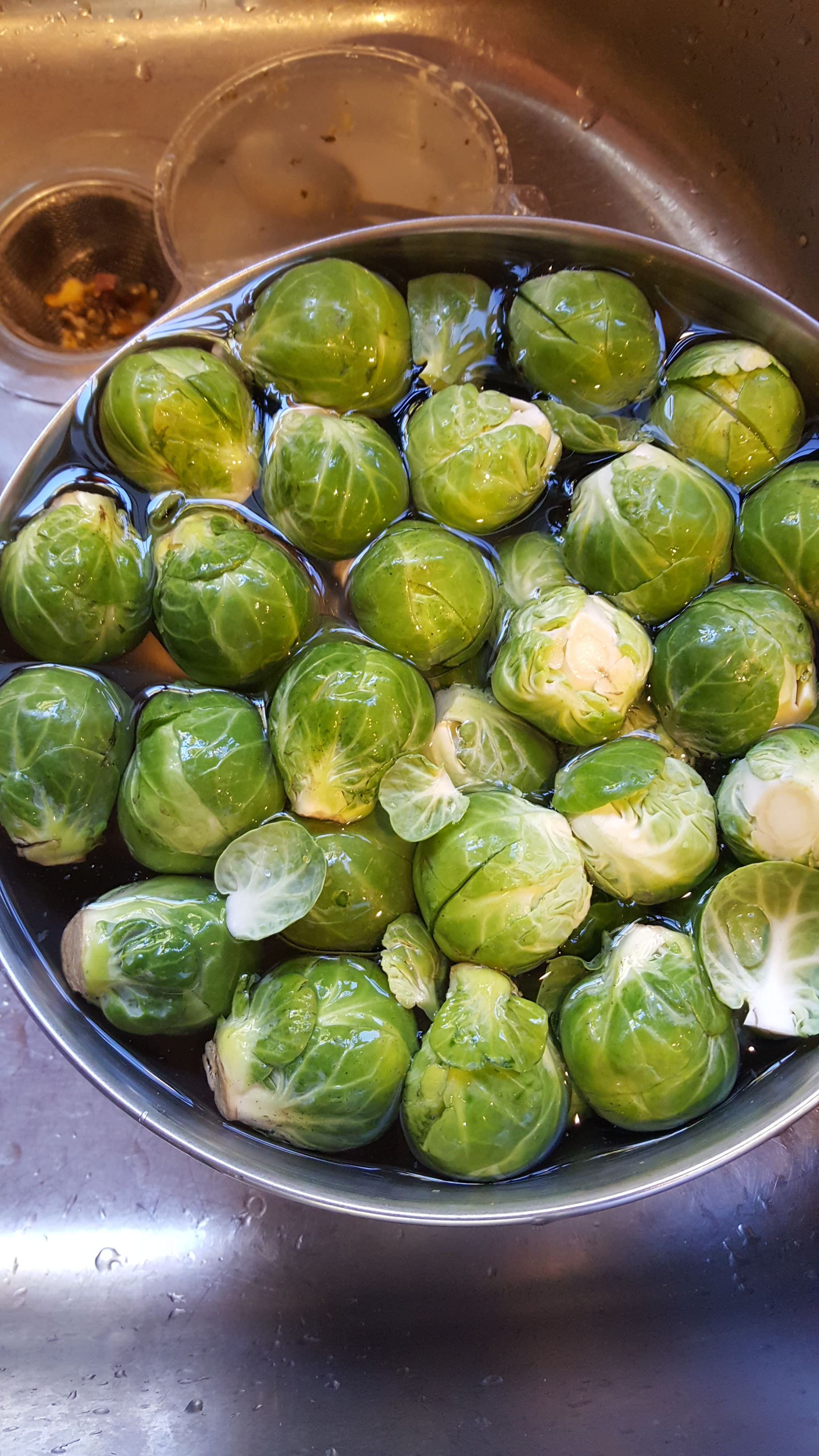 Picture of Wash and Prepare Brussel Spouts