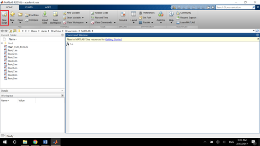 Matlab's Layout and Windows