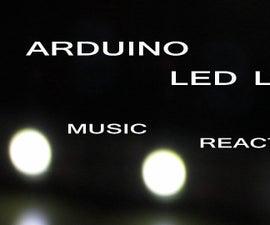 ARDUINO LED LIGHT MUSIC REACTIVE