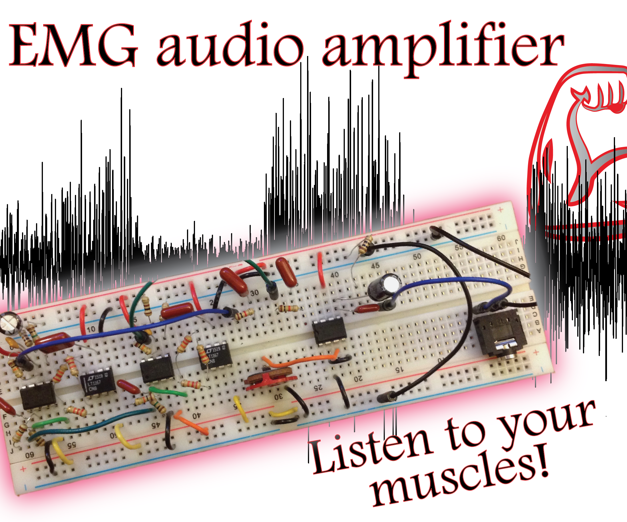Build an EMG Audio Amplifier! (Electromyography): 8 Steps (with