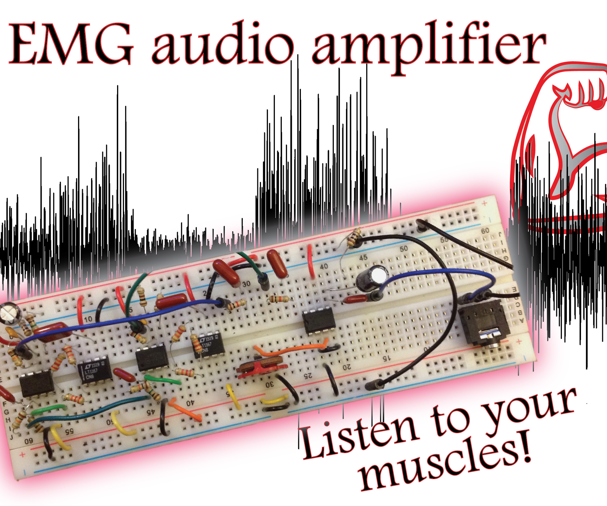 Build An Emg Audio Amplifier Electromyography 8 Steps With Instrumentation Circuit Diagram Pictures