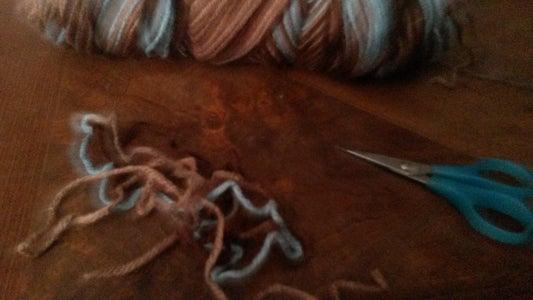 Step One - Cutting Yarn