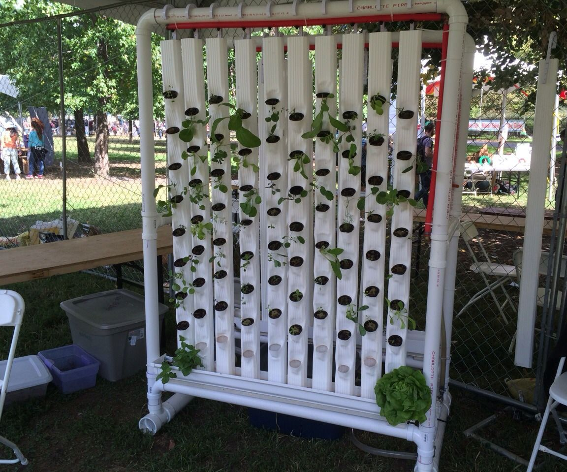 diy vertical hydroponic garden