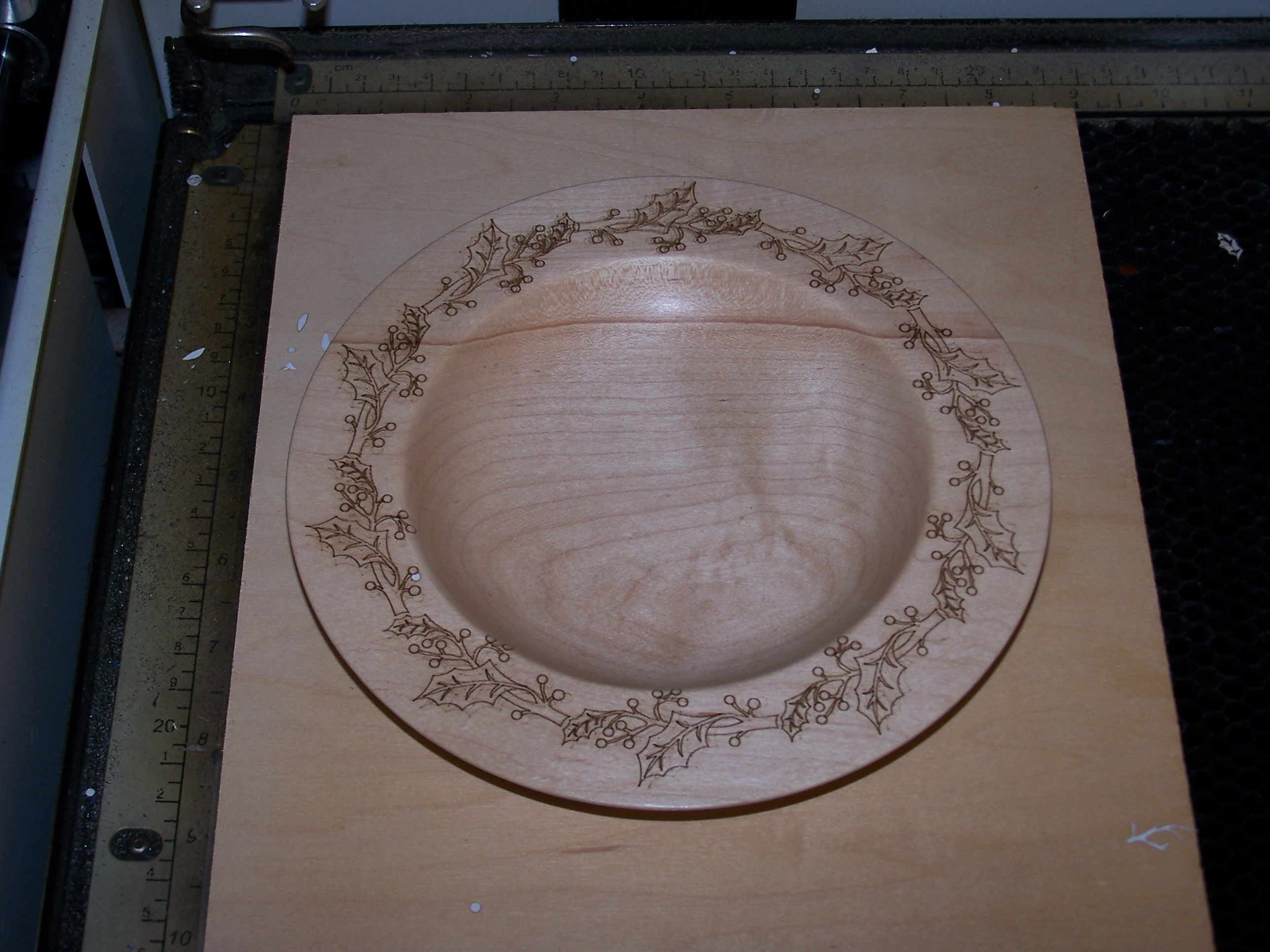 Picture of Laser Engrave a Pattern on the Rim of a Turned Wood Bowl