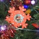 Snowflake Picture Christmas Tree Ornaments