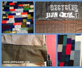 HOW TO MAKE a QUILT OUT OF RECYCLED JEANS