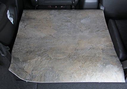 Add a Piece of Vinyl to Protect Floor Area