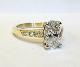 Solitaire Ring With Accent Stones