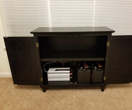 DIY Home Battery Backup Generator in a Wooden Cabinet