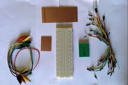 BREAD BOARD,PROTOTYPE UNIVERSAL BOARD AND WIRES