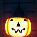 Pumpkin porch light covers