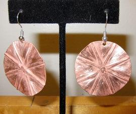 Foldformed Circle Earrings
