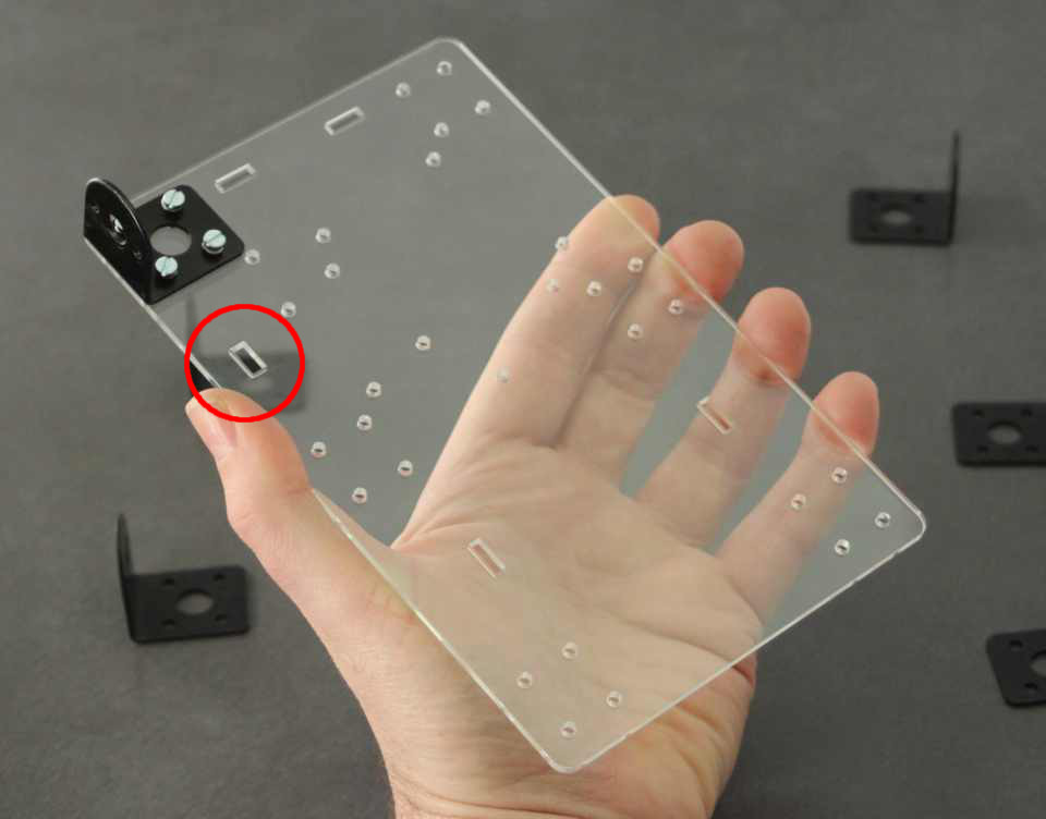 Picture of Place Your Motor Mounts on to the Perspex