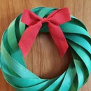 Wood Veneer Christmas Wreath