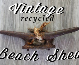 Vintage Recycled Beach Shed