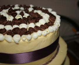 Wedding Cake with Chocolate Roses