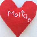 Personalized Heart Pillow!