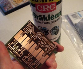 Two sided PCB using toner method