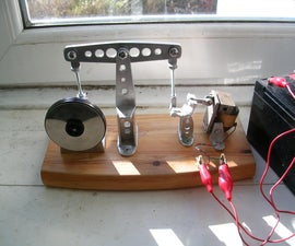 12V Solenoid Beam Engine, built from aluminium scraps and scavanged componants.