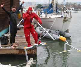 "How to ""Fly"" a Human Powered Hydrofoil - the ""Aquaskipper"""