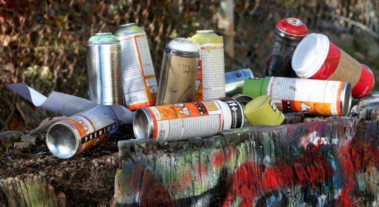 Picture of Graffiti Paint Can Lamp
