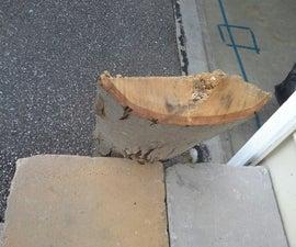 Easy log bench