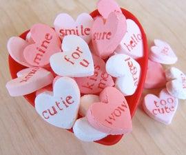 Homemade Candy Hearts