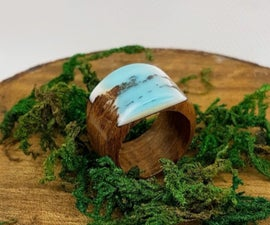 Resin and Wood Ring Band