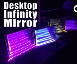 Freestanding Desktop Infinity Mirror - Easy to Decorate