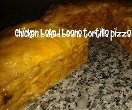Chicken Baked Beans Tortilla Pizza Recipe