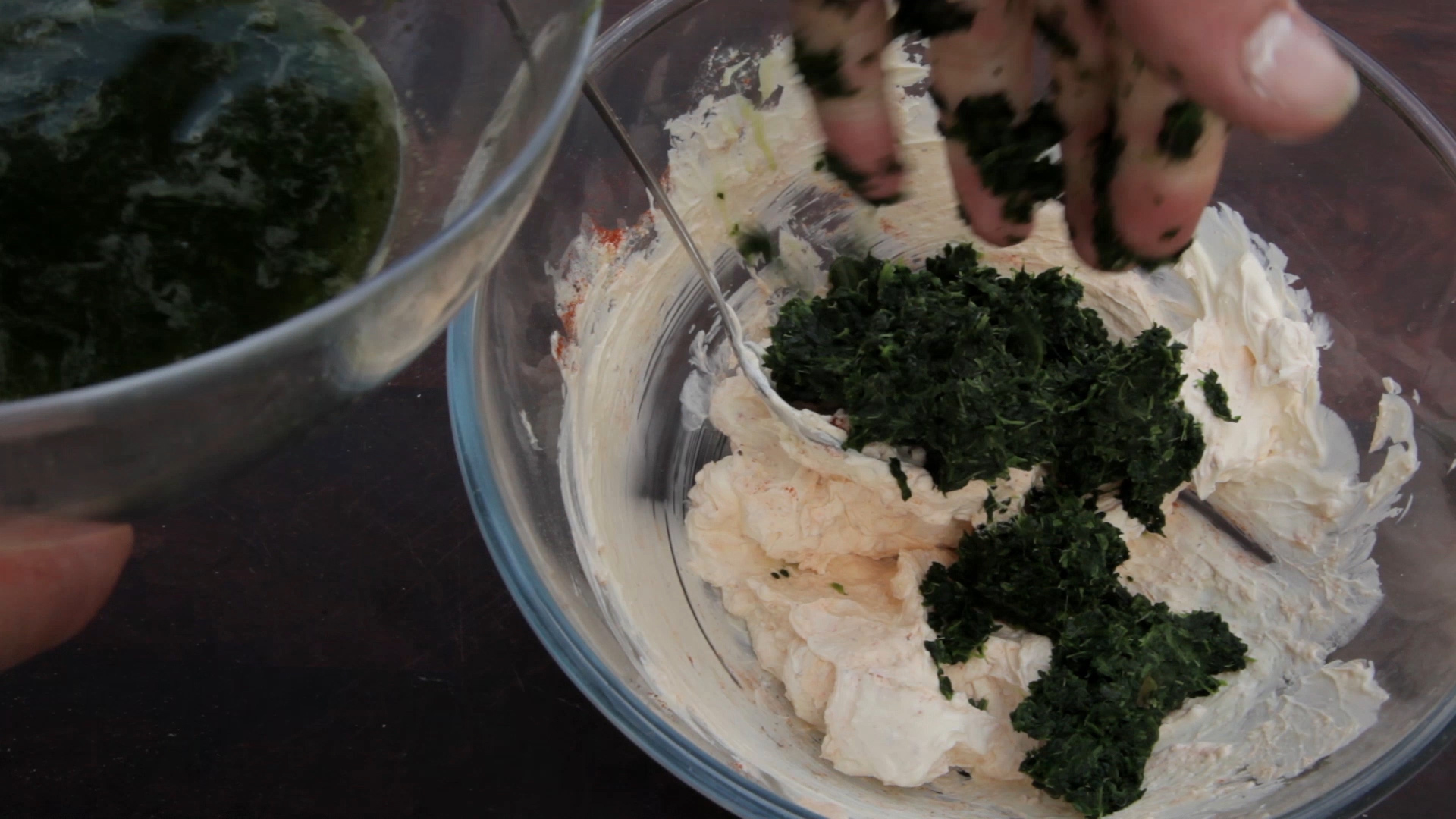 Picture of Squeeze Any Remaining Liquid From 2 Cups of Defrosted Spinach Before Adding to the Bowl.