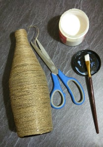 Twine Wrapped Glass Bottle