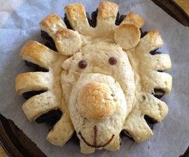 Chocolate Cream Brioche (How To Make Lion Bread)