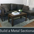 How to Make a Modern Metal & Wood Sectional Sofa