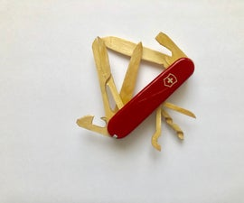 Swiss Army Knife Made From Popsicles