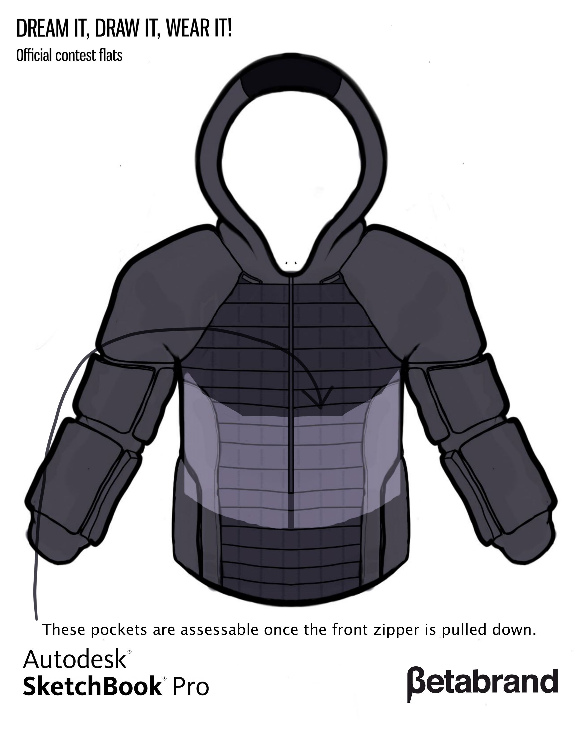Picture of Detailed Description of Hoodie [Inner Pocket 3]