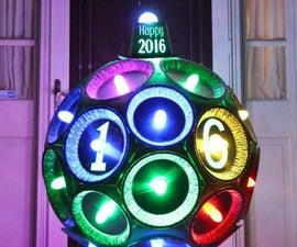 Happy 2016 Pie Tin Time Ball