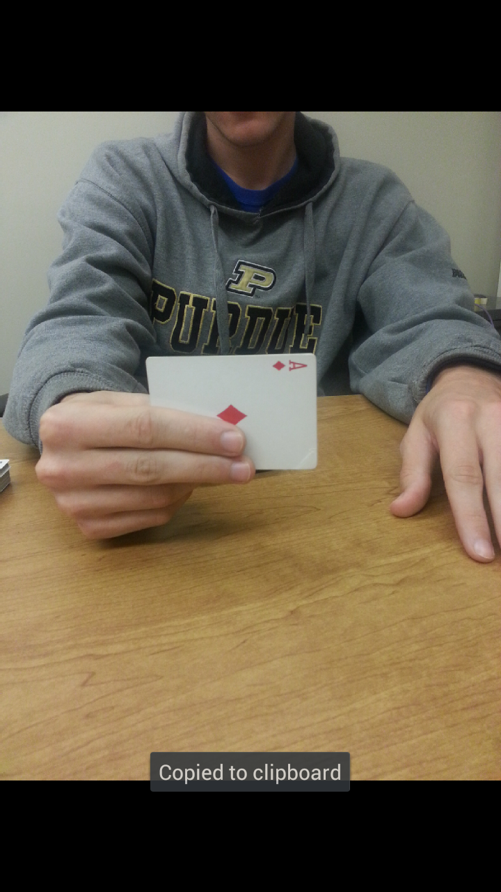 Picture of Holding the Cards