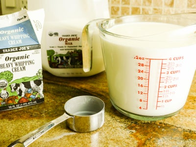 Measure Out Milk and Cream