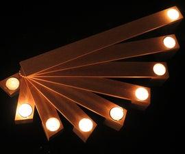 Folding candelabrum