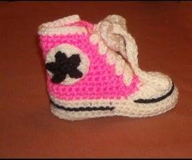Crochet Allstar Booties (part 1)
