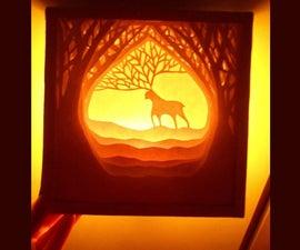 DIY Paper-cut Lightbox Dioarama
