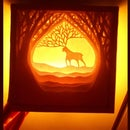 DIY Paper-cut Lightbox Dioarama