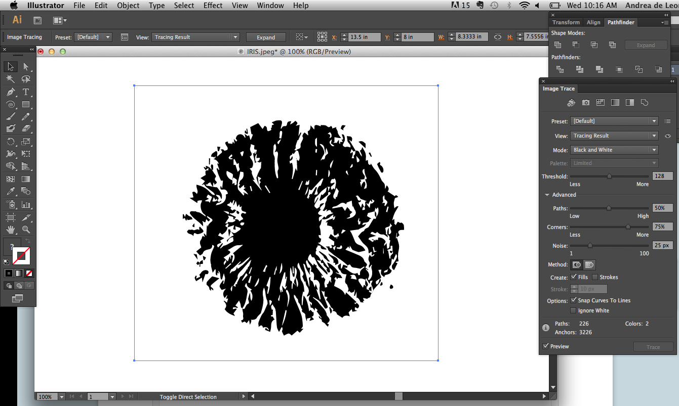 Picture of Image Trace in Illustrator
